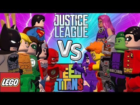 LIGA DA JUSTIÇA VS JOVENS TITÃS - LEGO Batman 3 | Briga de Herois #71
