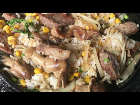 Steak on Sizzling plate and Corn Fritters - Sizzle Spot - Newark, California