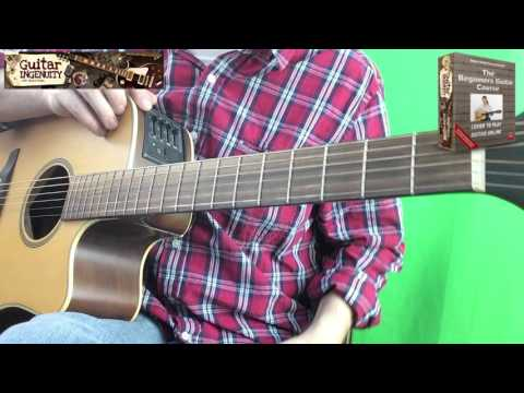 How To Play My Bonnie Is Over The Ocean On Guitar