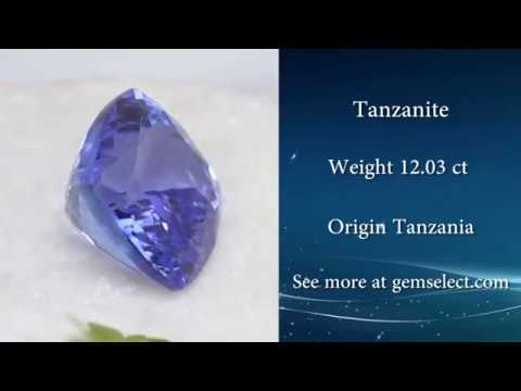 Huge Square-Cushion Violet-Blue Tanzanite: GemSelect Video Review