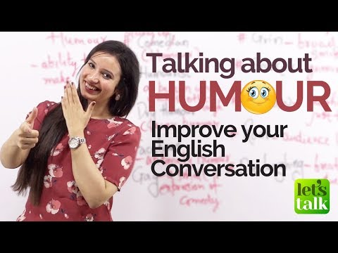 Talking about HUMOUR  - Improve your English speaking - Free English Lessons