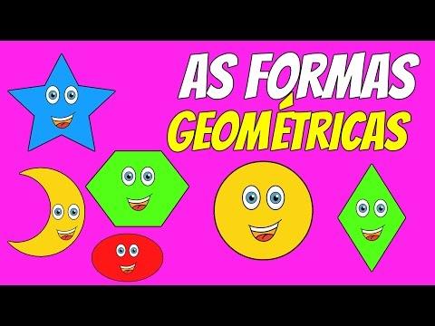 Ensinando as formas geométricas para crianças - Teaching the shapes to kids