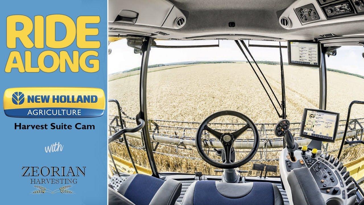 New Holland Harvest Suite Cam - Live Combine Ride