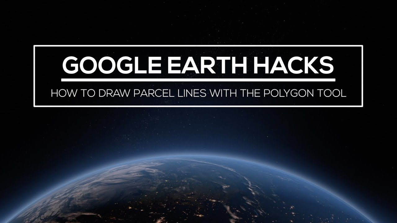 Drawing Lines With Google Earth : Google earth hacks how to draw parcel lines with the