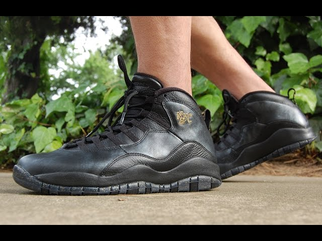 50f4a4848e0f95 Air Jordan 10 NYC 2016 On Feet - YouTube