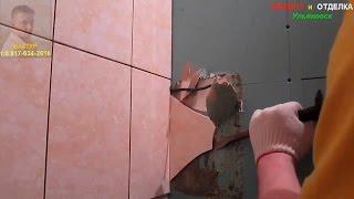 Смотреть видео кафель на гипсокартон в ванной