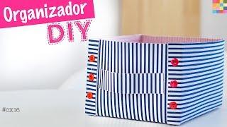 DIY - Caixa Organizadora 16 | Caixa de EVA com tecido FÁCIL