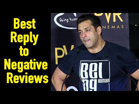 Salman Khan BEST REPLY to Tubelight Negative Review