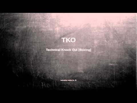 What does TKO mean