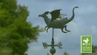 Good Directions 9672v1 Dragon Weathervane - Blue Verde Copper