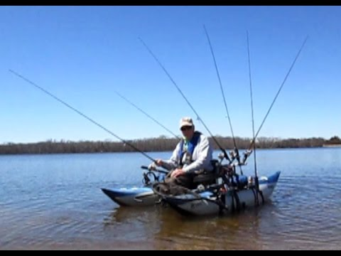 Early Spring Pontoon Bass Fishing With Two CastMate Systems