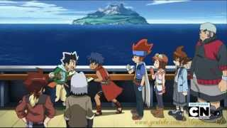 Beyblade Metal Fury Episode 23 Battle of Beyster Island part 1/2