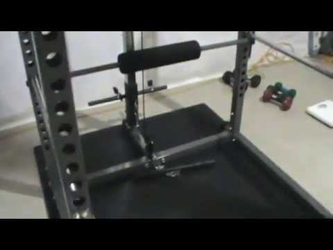 AmStaff TP006D Power/Squat Rack with Lat/Pull Down Attachment