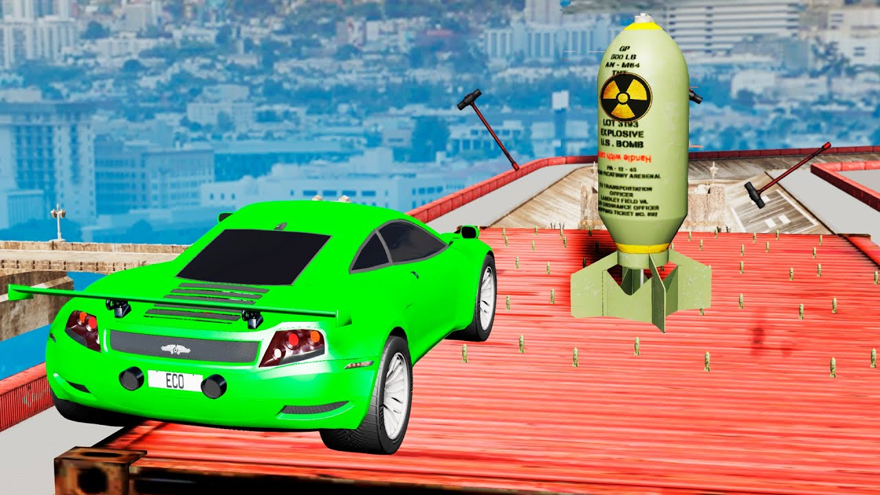 EXPERIMENT - Cars vs Nuclear Bombs #15 - BeamNG Drive | CrashTherapy