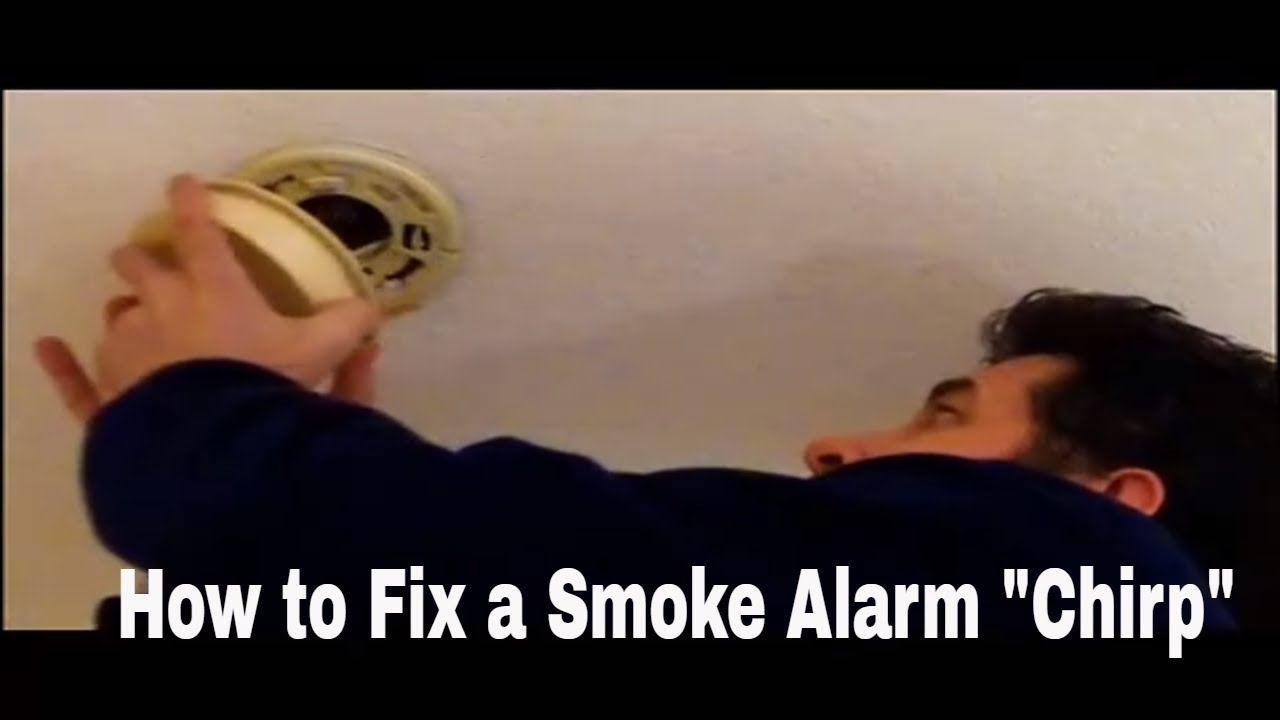 How to Fix Smoke Alarm Chirping Sound