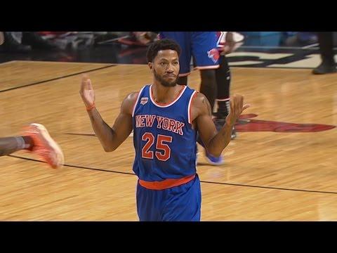 Derrick Rose Returns Home for the 1st Time! New York Knicks vs Chicago Bulls