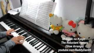 Repeat youtube video Shingeki no Kyojin - The Reluctant Heroes (Slow Arrange) Piano Cover