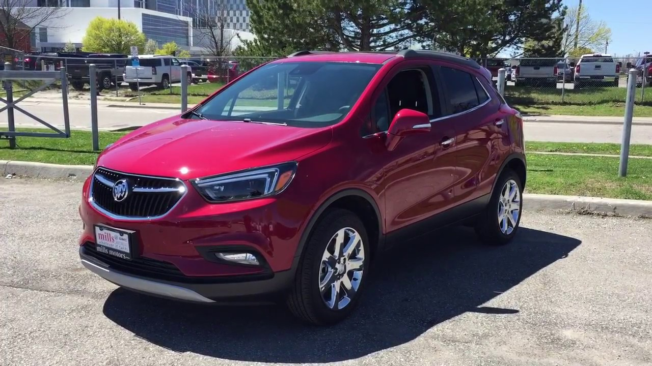 Red Buick Encore >> 2017 Buick Encore Awd Leather Uphosltery Sunroof Heated Steering Wheel Red Oshawa On Stock 171218