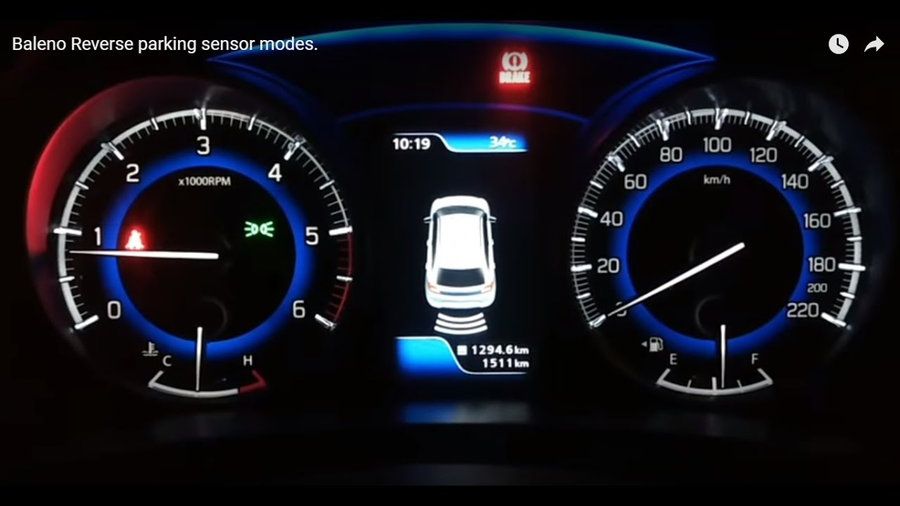Baleno Reverse Parking Sensor Modes Youtube Car Circuit Schematic Free With Explanation
