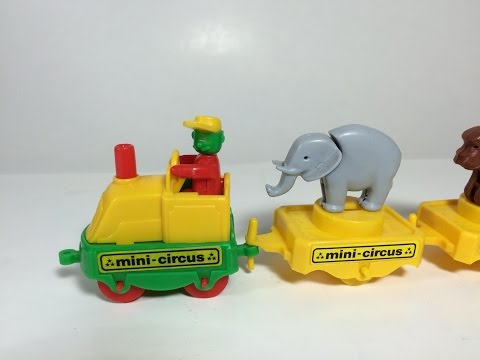 Bruder Mini Circus Train Vintage Plastic Toy Made in West Germany