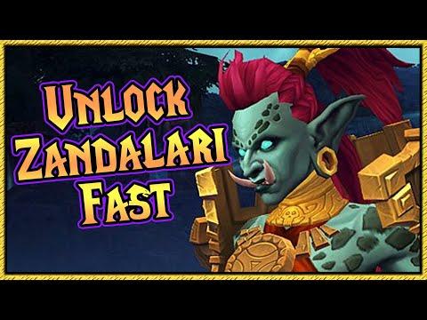 How to unlock Zandalari Trolls Fast [ Unlock allied races guide ]