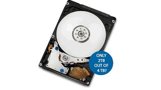 Use full capacity of hard drive larger than 2 terabytes