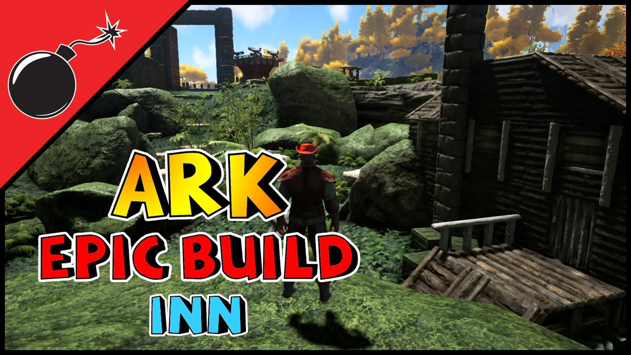 ARK: Survival Evolved - EPIC BUILD - FIREPLACE AND TOWN INN (S1E47 ...
