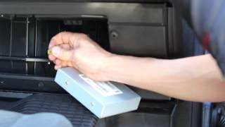 How to disconnect Sirius XM Radio antenna GMC Sierra Chevy Silverado