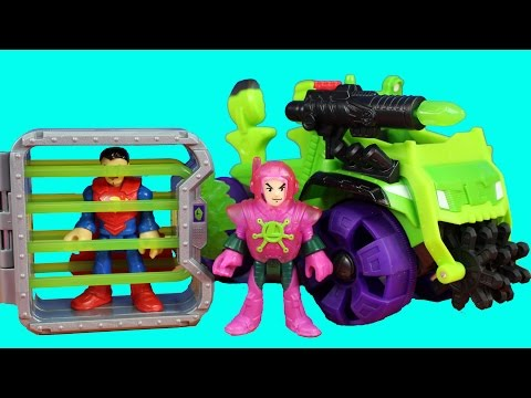 Imaginext Lex Luthor Hauler Captures Superman And Brings Him To Hall Of Doom