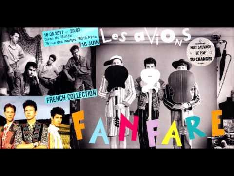 """Les Avions (""""Fanfare"""", """"Be pop"""", """"Nuit sauvage"""") : concert (48 mn), 16/06/2017 Divan du Monde, Paris"""
