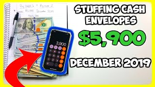 Stuffing my CASH ENVELOPES| December 2019 Part 1| Dave Ramsey Inspired Budgeting