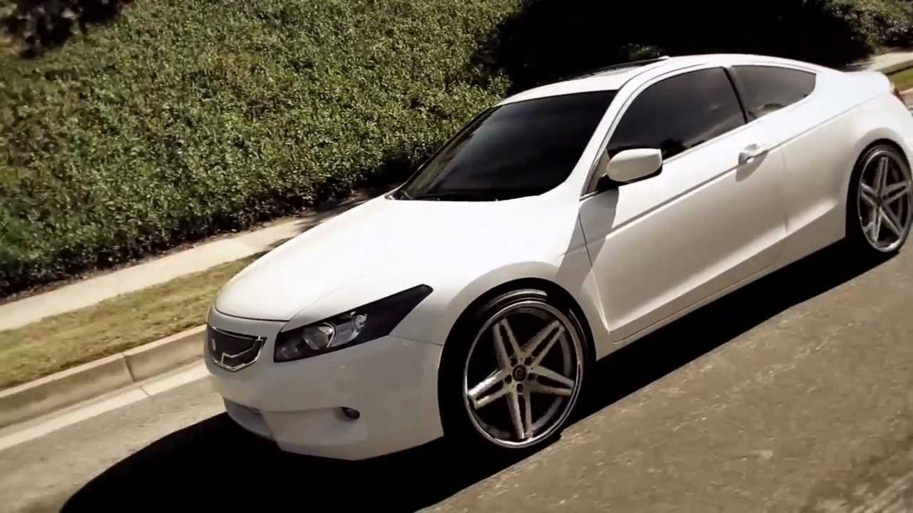White Honda Accord On Some Nice 20 Quot Lexani R 5 Wheels Youtube