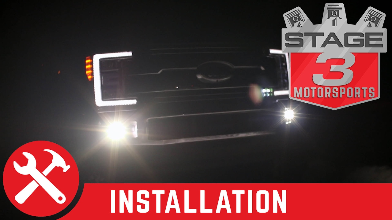 2017 super duty baja designs squadron sport off road led light kit install [ 1280 x 720 Pixel ]