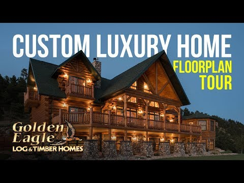 Custom Luxury Home Floorplan Tour by Golden Eagle Log and Timber Homes