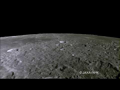 """KAGUYA taking """"Mare Imbrium and Sinus Iridum"""" by HDTV"""