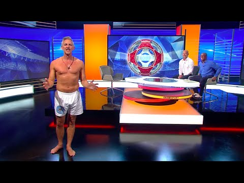 Gary Lineker Presents Match of the Day in his Underwear