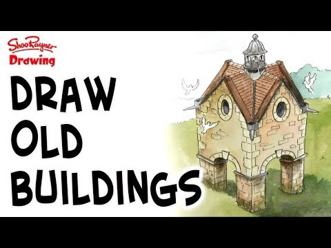 How to draw old buildings - a stone dovecote