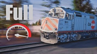 RUNAWAY CALTRAIN - TRAIN SIM WORLD 2020 4k😲