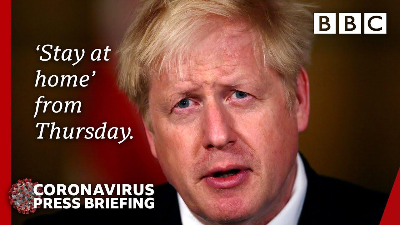 Boris Johnson Announces Four Week England Lockdown Covid Briefing Bbc News Live Bbc Youtube