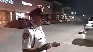 Security Officer handles it well