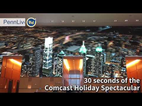 30 seconds of the Comcast Holiday Spectacular