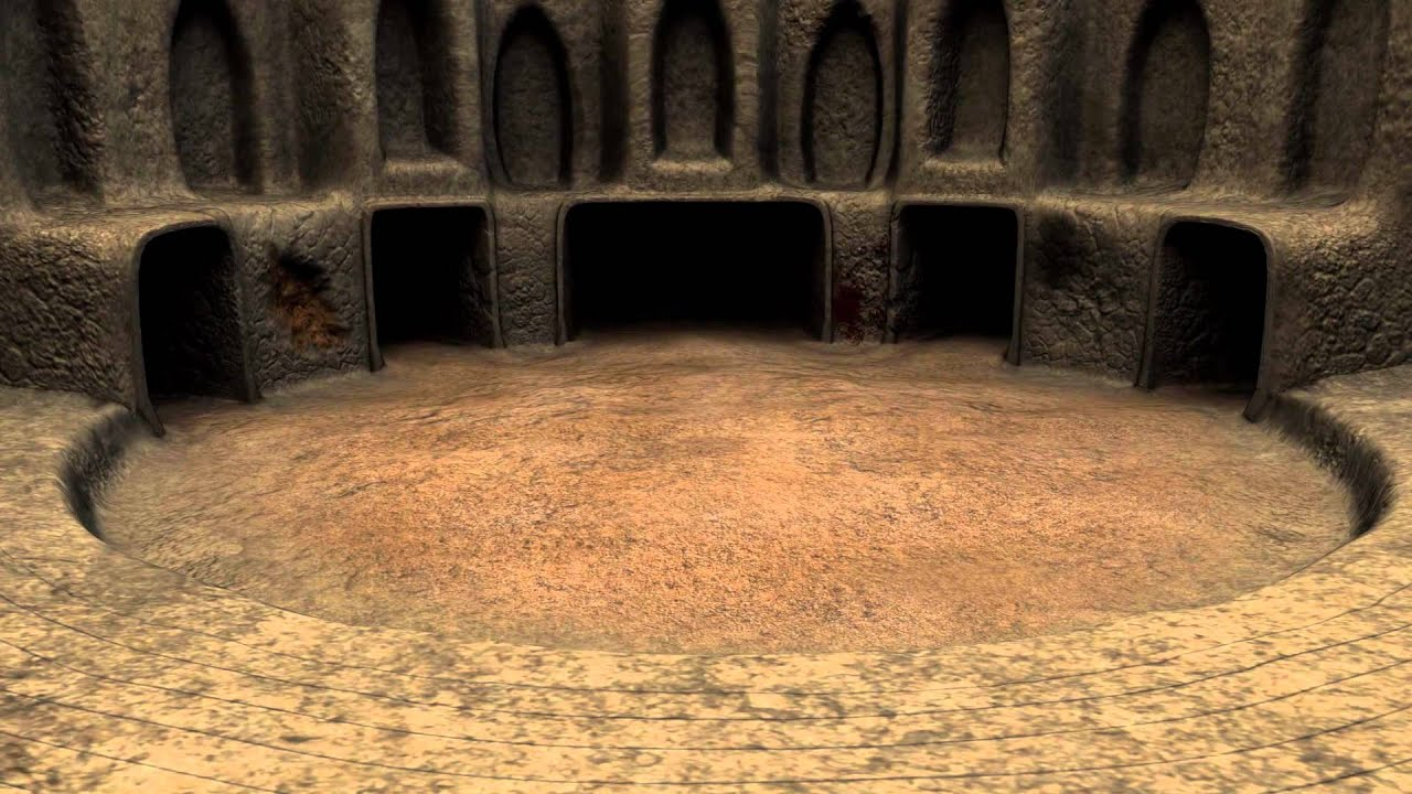 3d Wallpaper Feature Wall Indie Game Wip Gladiator Arena Level Design Youtube
