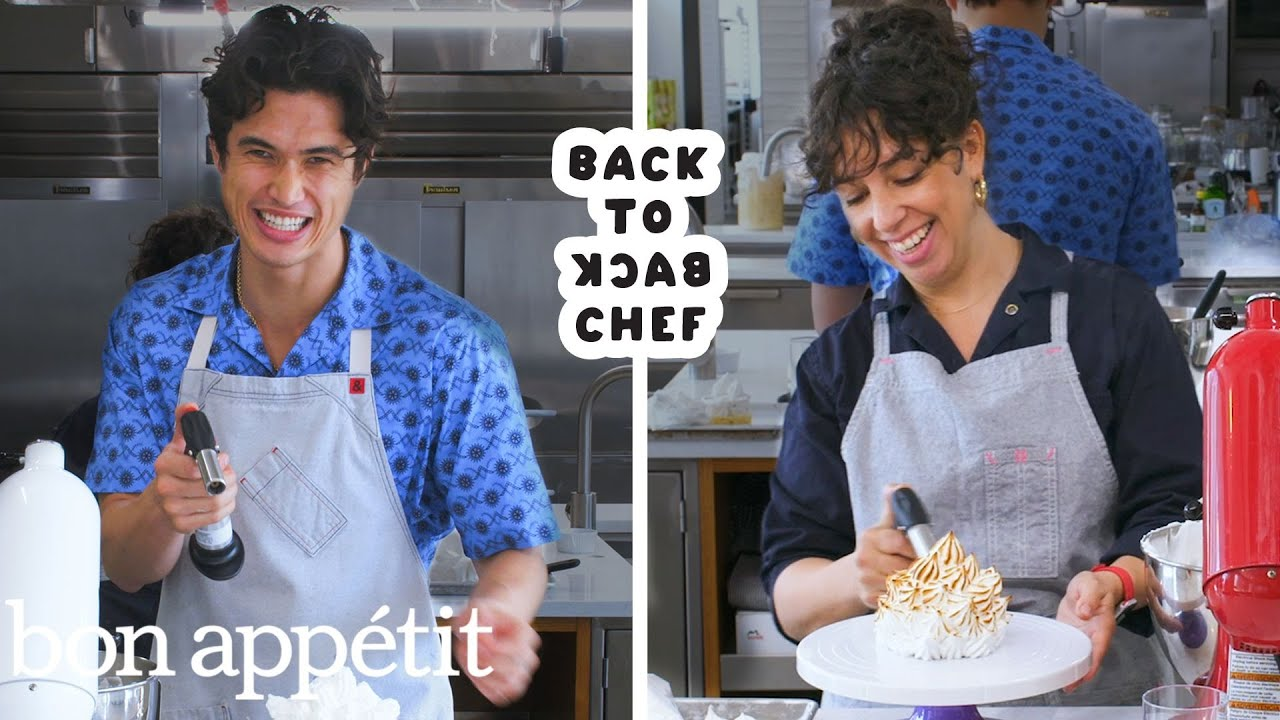 Charles Melton Attempts To Keep Up with a Professional Chef | Back-to-Back Chef | Bon Appétit