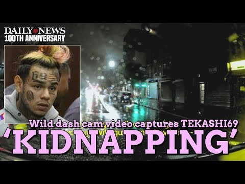 Tekashi69 'kidnapping' dash cam video released