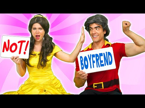 BELLE AND BEAST VS GASTON IN BOYFRIEND TAG From Beauty and the Beast Totally TV