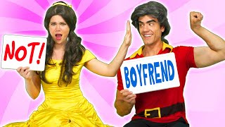BELLE AND BEAST VS GASTON IN BOYFRIEND TAG. (From Beauty and...
