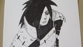 Drawing No Jutsu: How to draw Uchiha Madara うちはマダラ