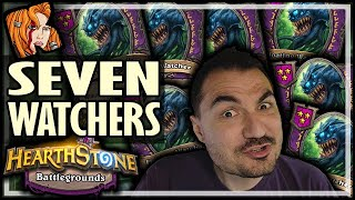 7 FLOATING WATCHERS?! - Hearthstone Battlegrounds