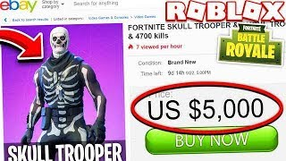 Buying $5,000 SKULL TROOPER skin in FORTNITE! (ROBLOX FORTNITE TYCOON)