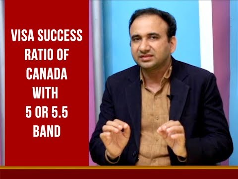 Canada Visa Requirement 2018 - Success Ratio with 5 or 5.5 Band